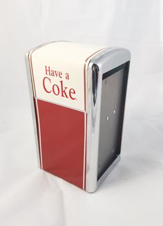 """Retro """"Have a Coke"""" Napkin Holder by PastTastic on Etsy"""