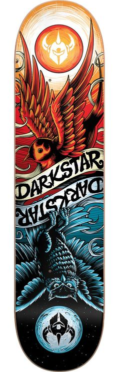 Darkstar Skateboards Early Bird Red Blue Skateboard Deck Skateboard Logo, Board Skateboard, Skateboard Design, Skateboard Clothing, Darkstar Skateboards, Longboard Design, Skate And Destroy, Comic Manga, Skate Party