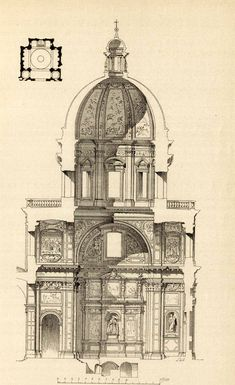 June CONTEST! COMMENT on the projects displayed on buildyful.com & WIN 100 USD! Find out more on buildyful.com #architecturestudents~~Section of Santa Maria Maggiore, Rome