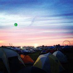 """Sunset over bonnaroo"
