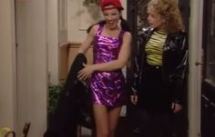 """The """"Miley Cyrus"""" Hologram Dress Fashion Idol, Fashion Addict, 90s Fashion, Retro Fashion, Fashion Beauty, Fashion Outfits, Nanny Outfit, 90s Outfit, Fran Fine Outfits"""