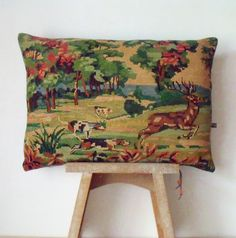 French Unique Vintage Tapestry Silk Needlepoint by Retrocollects £35 https://www.etsy.com/shop/Retrocollects
