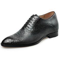 Snake Skin Designer Italy Crocodile High Heel Men Formal Wedding Shoes Dress Tan Oxfords Alligator Office Elevator Snakeskin Men's Shoes