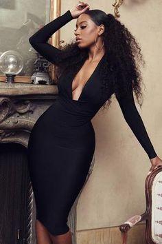 Clothing : Bandage Dresses : 'Francesca' Black Draped Bandage dress Source by fridayswithafuaa dress classy Sexy Outfits, Classy Outfits, Fashion Outfits, Party Dress Outfits, Bodycon Dress Parties, Fashion Hacks, Fashion Sets, Fall Outfits, Casual Outfits