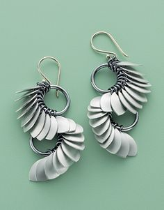 Tiny ScaleS Earrings by Karen Karon