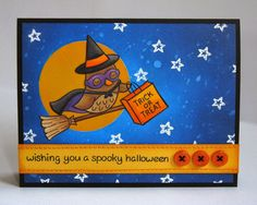 A Lawn Fawn Halloween Critters In Costume Card by Mendi Yoshikawa