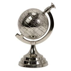 Celio 4 in. Diam. Aluminum Globe | from hayneedle.com