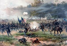 The Battle of Antietam, the bloodiest day of the Civil War.