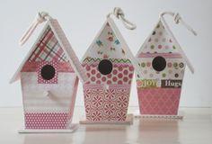 Tutorial: casita de madera decorada con papel