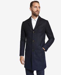 Wool ombré overcoat