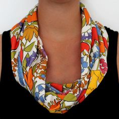 This beautiful floral scarf can dress up a tame neutral dress and can be worn in multiple ways. It's crafted from original artwork and made of eco-conscious materials, so it's guaranteed to be unique and as safe on your conscience as it is on your budget. Neutral Dress, Professional Wardrobe, Floral Scarf, Tulips, Organic Cotton, What To Wear, Dress Up, Knitting, My Style