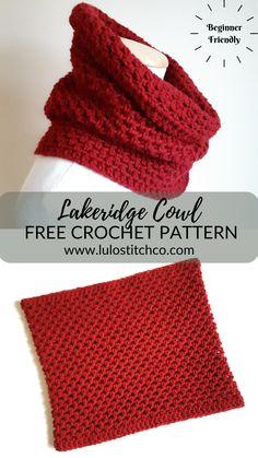 Crochet Crafts, Easy Crochet, Crochet Projects, Knit Crochet, Crochet Granny, Crochet Cowl Free Pattern, Crochet Stitches, Crochet Patterns, Free Cowl Knitting Patterns