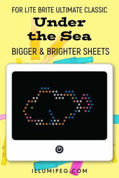12 Sheets Things That Go Car /& Truck Template Sheets for Magic Screen NOT for Older LITE Brites IllumiPeg Lite Brite Refill