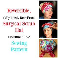 Diy Reversible Scrub Hat With A Pattern To Cut Out And Keep Two In One