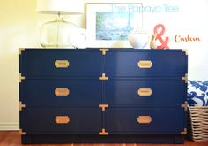 Custom Campaign Chest Paint to order by ThePapayaTree on Etsy, $1250.00
