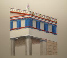 Zeichnerische Rekonstruktion des sog. Tempel B in Selinunt