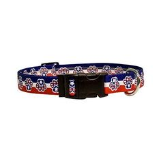 Patriotic Paw Dog Collar  Size Small 10 to 14 Long  Made In The USA -- You can find out more details at the link of the image.Note:It is affiliate link to Amazon.