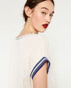 Image 3 de T-SHIRT EN MAILLE de Zara