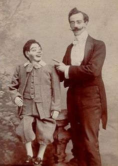 Vintage Ventriloquist Photo