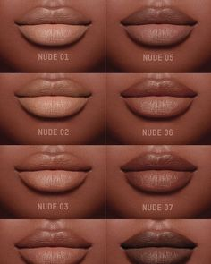 """Lipstick dupes 643451865492779528 - gotta look for dupes! The model Tori Bass is wearing the creamy """" Nude crème """" lipstick set made by KKW BEAUTY coming in 8 distinct shades ( SWIPE LEFT ⬅… Source by theskincareculture Lipstick For Dark Skin, Dark Skin Makeup, Nude Makeup, Makeup Inspo, Makeup Lipstick, Lipstick Set, Makeup Ideas, Makeup Tips, Makeup Looks"""