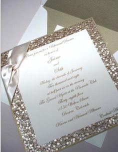 Bronson Wedding Invitation LARGE Pocketfold With Ribbon Tie   Ivory, Gold U0026  Black (customizable) | Ivory Wedding Invitations, Wedding And Ivory Wedding