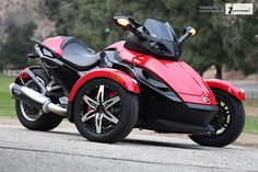 Can Am Spyder SE5 front   {Check out  Super Deals on quality Can-Am Spyder Tire Pressure Monitoring Systems