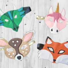 I'm excited to share with you all this super easy tutorial for making easy felt animal masks.