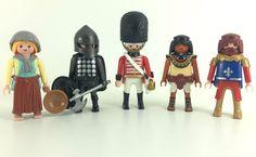 x5 english Playmobil Knights Guards Figures New 2016 Rare Lot Royal Set Romans #PLAYMOBIL