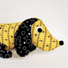 Wiener Dog Plush Daschund, by Blackbirdfashion