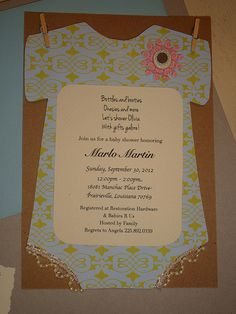 Lil' Claire Creations invitations for baby shower