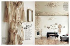 我們看到了。我們是生活@家。: 這個美麗的家在瑞典,嘆為觀止的天花板與漂亮的地板