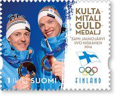Miesten sprintti kulta postimerkki