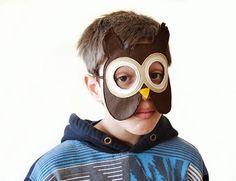 Buho niños máscara máscara del carnaval Animal Kids por BHBKidstyle