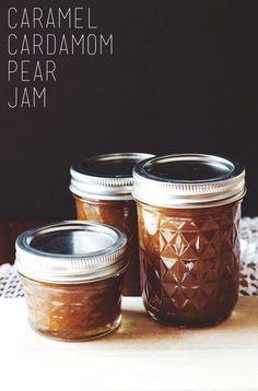 Caramel Cardamom Pear Jam | a #canning recipe