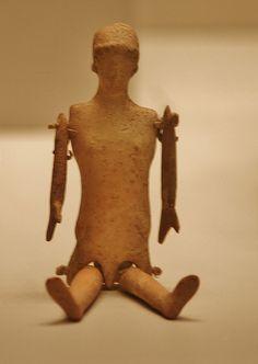 Terracotta Doll, Greek, 500-400 BC, Getty Villa, Malibu, California, USA