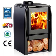 Amesti Nordic range of wood burning stoves provide an eco-friendly efficient alternative to heating your rooms. They are HETA approved stoves and have CE certification. Small Wood Burning Stove, Tiny Wood Stove, Wood Stove Hearth, Stove Fireplace, Contemporary Wood Burning Stoves, Refractory Brick, Wood Pellet Stoves, Electric Fires, Contemporary Bedroom