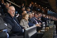 King Felipe & Princess Leonor attended the football match between Atlético de Madrid vs FC Bayern München
