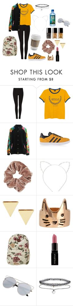 """Untitled #829"" by hotlinejenn ❤ liked on Polyvore featuring Monki, adidas Originals, Topshop, Cara, ASOS, Billabong, Smashbox and Miss Selfridge"