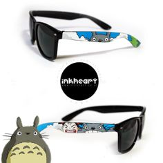 Sunglasses - Custom Hand Painted - My Neighbour Totoro
