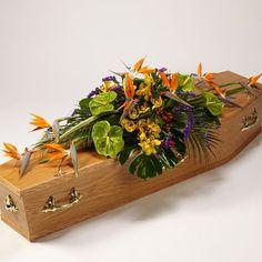 Exotic Casket Spray | Urban Design Flowers Casket Flowers, Funeral Flowers, Funeral Caskets, Funeral Sprays, Casket Sprays, Funeral Tributes, Sympathy Flowers, Cymbidium Orchids, Flowers Online