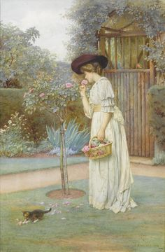 The Rose Garden, 1908, by Charles Edward Wilson (1854-1941)
