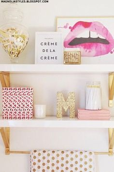 Styling Your Shelves - tad too girly for my other half ha! But if I were single, I'd have this fo'sho!