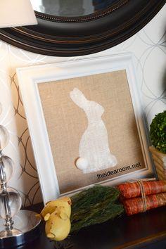 Burlap Easter Bunny!