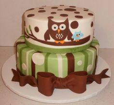 Owl Cake @Kristen Bisiules...let me know if you want me to make something like this for Maddie!  :-)