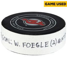 Warren Foegele Carolina Hurricanes Fanatics Authentic Game-Used Goal Puck from March 27, 2018 @ New Jersey Devils