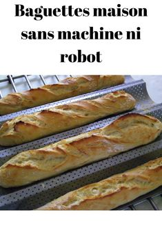 Homemade baguettes without machine or robot - - No Cook Desserts, Dessert Recipes, Bon Appetit, Brunch, Paris Food, Cuisine Diverse, Arabic Food, Artisan Bread, Naan