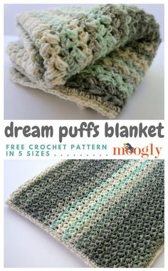 Dream Puffs Blanket - Free crochet pattern on Mooglyblog.com! Includes instructions for 5 sizes!