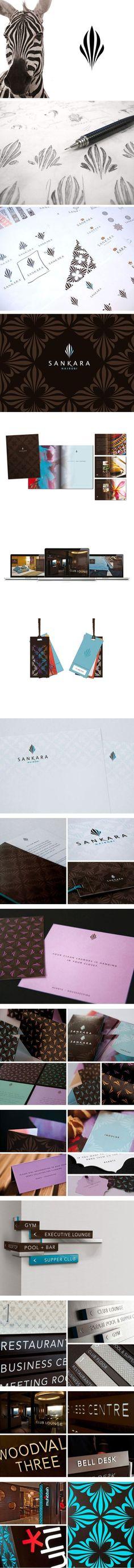 Sankara Hotel / Branding / Identity / Logo / Process / sketch / inspiration / zebra / stripes / pattern / stationery / business card / signs