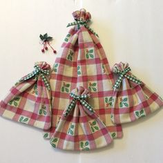 Christmas Fabric Gift Bags Gift Bags Vintage by giftgarbbags