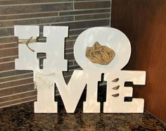 Wooden sign Home sign Wood letters Home by lisesimplecreations, $33.00